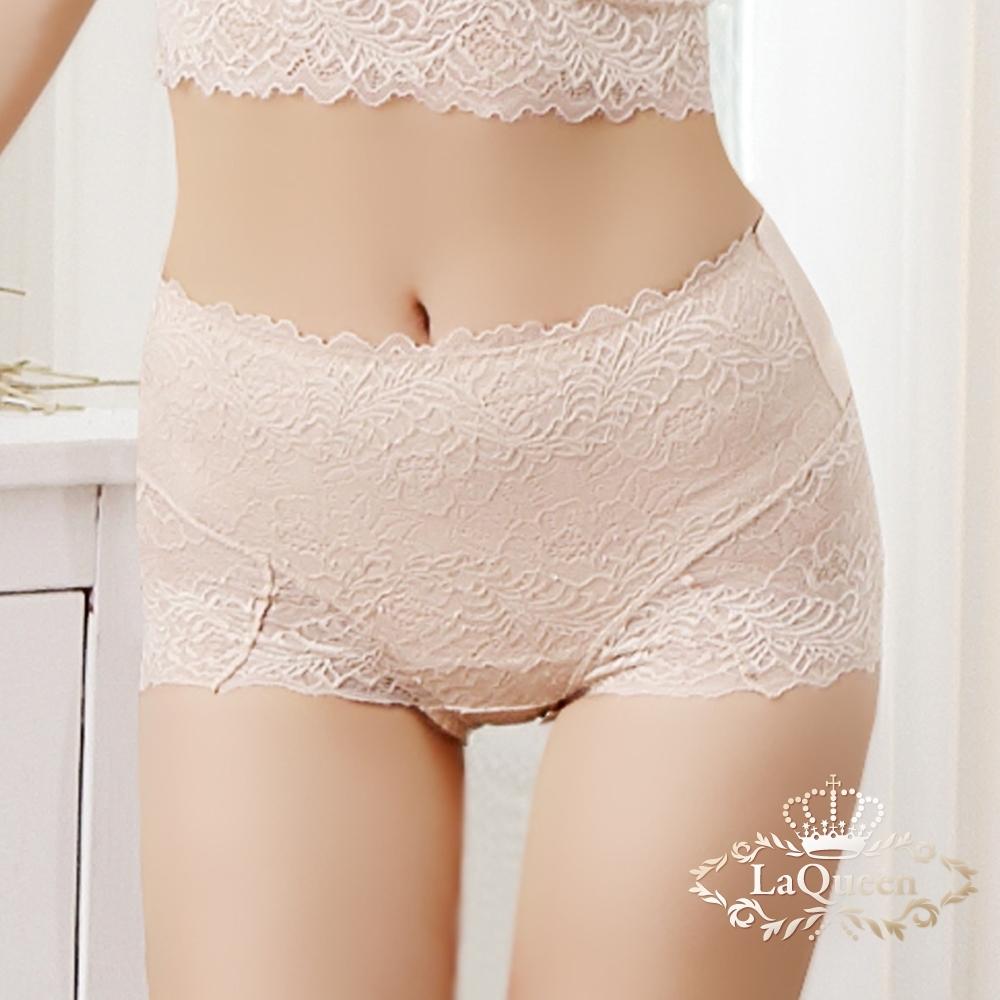 內褲 雙絲透氣美邊小褲-膚  La Queen