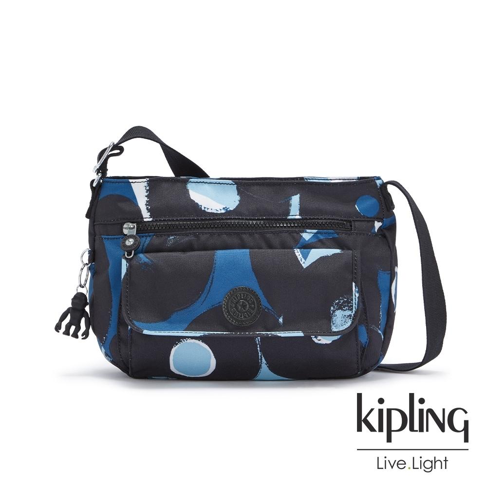Kipling 童趣塗鴉印花掀蓋側背包-SYRO