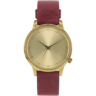 KOMONO Estelle Classic 腕錶-勃根地/36mm