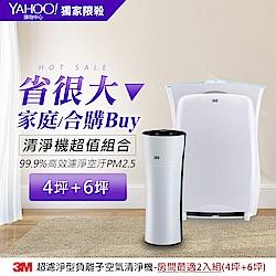 3M淨呼吸空氣清淨機買大送小特惠組(買進階版6坪送淨巧型4坪)