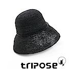 tripose 經典優雅-100%手工Raffia時尚遮陽草帽-帽簷-10cm(黑色)