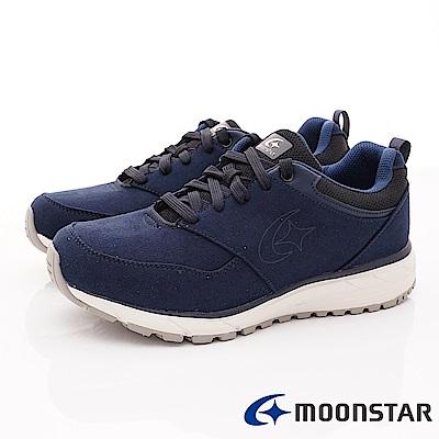 日本Moonstar戶外健走鞋-3E寬楦防滑抗菌款 1855深藍(男段)