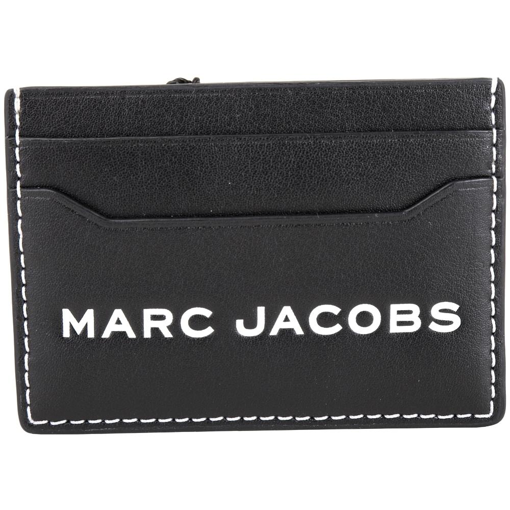 MARC JACOBS Tag 字母標籤條碼皮革名片夾/卡夾(黑色)