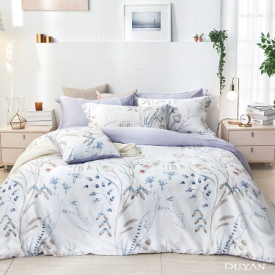 DUYAN竹漾-60支萊塞爾天絲-雙人床包被套四件組-日夏花庭 台灣製
