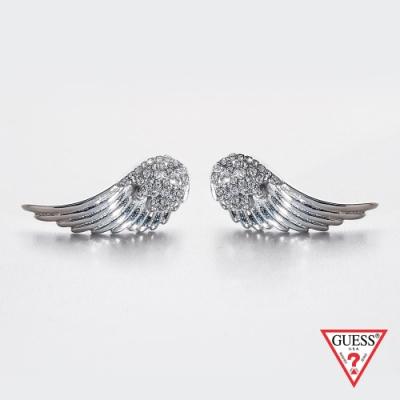 GUESS-配件-天使之翼耳環-銀