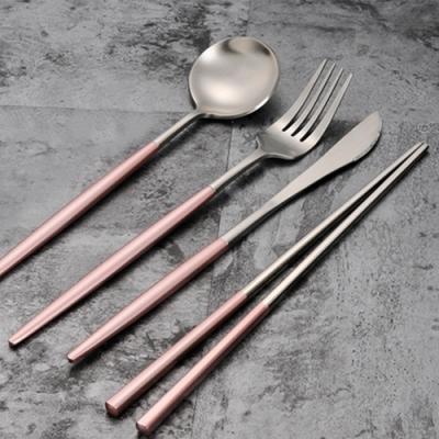 [歐風奢華] 304不鏽鋼升級加厚餐具四件組