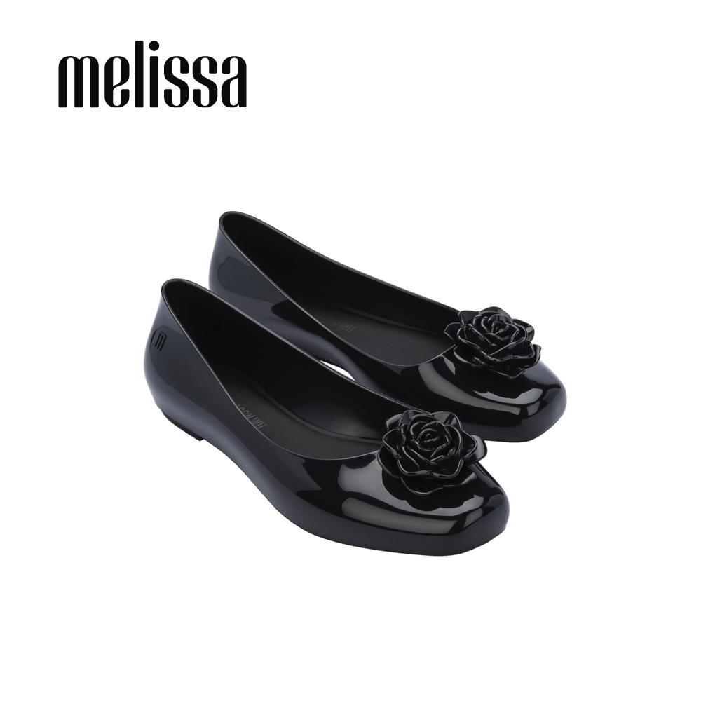 Melissa x Jason wu 精緻花朵設計娃娃鞋-黑
