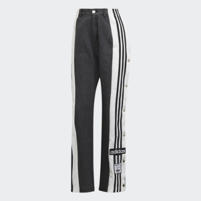 adidas DRY CLEAN ONLY X DENIM ADIBREAK 黑/黃 運動休閒長褲 女款 H59019