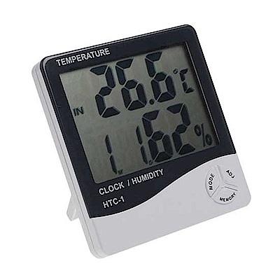 大螢幕溫度計濕度計時鐘 有鬧鐘功能