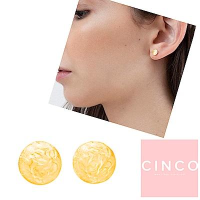 葡萄牙精品 CINCO Matilda earrings 24K金耳環 迷你硬幣耳環