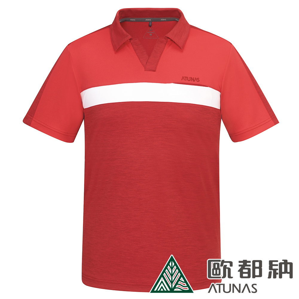 【ATUNAS 歐都納】男ATUNAS-TEX短袖POLO衫A1-P1916M暗紅