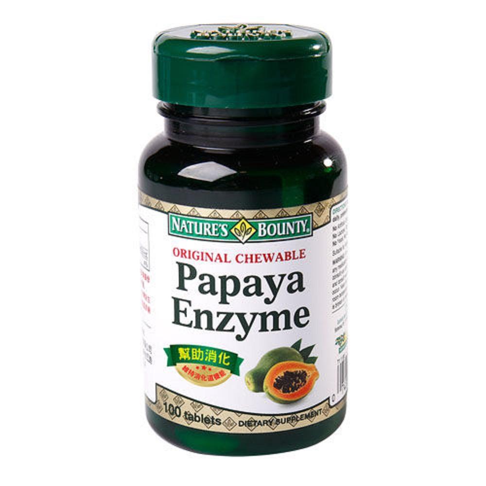 【自然之寶】咀嚼木瓜酵素錠狀食品100顆
