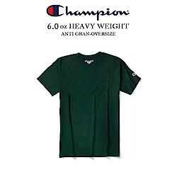 冠軍CHAMPION BASIC電繡小標素t 重磅短t 美規-森林綠