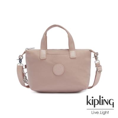 Kipling 溫柔沉穩粉簡約手提肩背托特包-KALA COMPACT