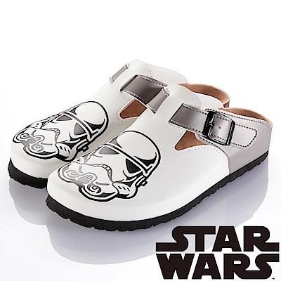 (雙11)StarWars 星際大戰-白兵 減壓吸震腳床型拖鞋-白