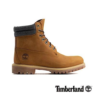 Timberland 男款小麥色防水皮革六吋靴|A1QZG