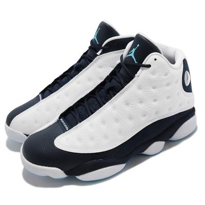 Nike 籃球鞋 Air Jordan 13 Retro 男鞋 經典款 復刻 喬丹 皮革 舒適 穿搭 白 藍 414571-144