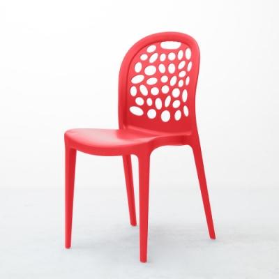 【Amos】台灣製泡泡造型一體成形塑膠餐椅