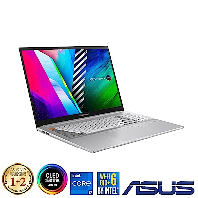 ASUS N7600PC 16吋筆電 (i7-11370H/RTX3050/16G/1TB SSD/Vivobook Pro 16X OLED/前衛銀)