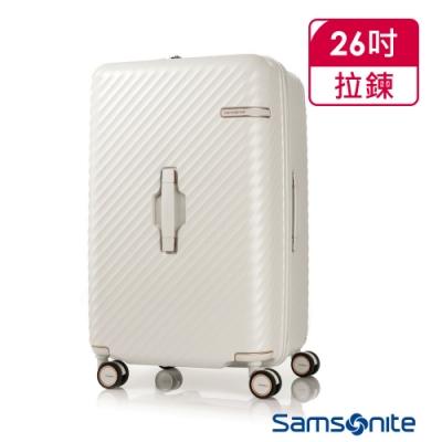 Samsonite新秀麗 26吋 Stem 2/8 開闔PC抗震雙輪SPORT運動箱(象牙白)