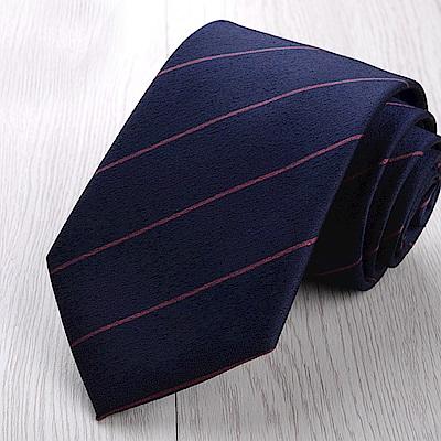 拉福   勝全8CM寬版領帶拉鍊領帶(藍底)