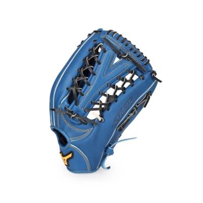 MIZUNO 硬式棒球手套外野手 藍黃黑