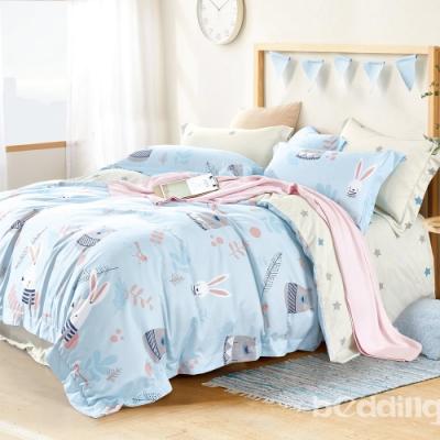 BEDDING-3M專利+頂級天絲-雙人薄床包涼被四件組-守望