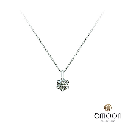 amoon 戀戀東京系列 愛苗 鉑金鑽石項鍊