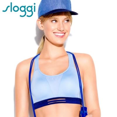 sloggi Dynamic跳躍大理石無鋼圈 B-C罩杯運動內衣 粉藍 Y11-1466B5