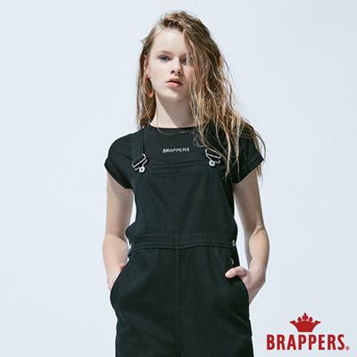 BRAPPERS 女款 LOGO燙鑽短袖T恤-黑