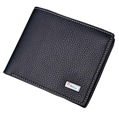 A+ accessories 簡約品質風尚頭層牛皮二折短夾(3色任選)