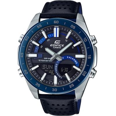 CASIO EDIFICE 10年電力雙顯運動錶(ERA-120BL-2A)