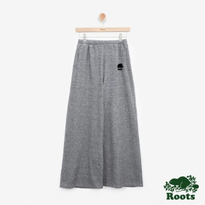 女裝Roots - S&P系列毛圈布寬版棉褲-灰色