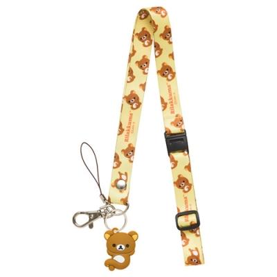 懶熊悠閒系列造型公仔頸鏈掛繩。懶熊 San-X
