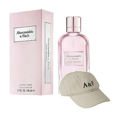 ABERCROMBIE & FITCH 同名經典女性淡香精50ml(加贈A&F品牌棒球帽)
