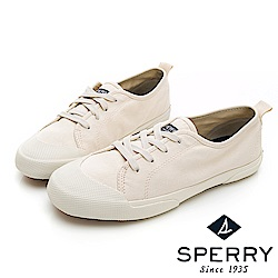 SPERRY 時尚簡約低筒帆布鞋(女)-米白