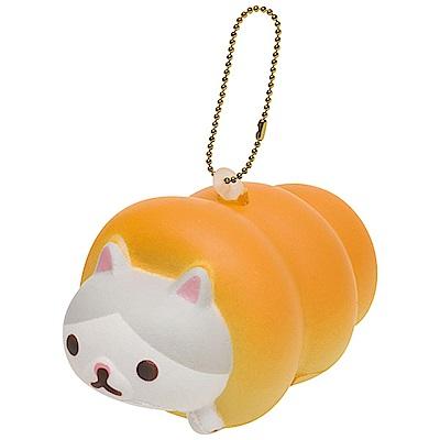 捲心奶油貓土司麵包系列QQ公仔吊飾。土司貓 San-X