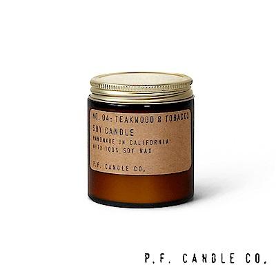 美國 P.F. Candles CO. No.04 柚木煙草 手工香氛蠟燭 99g