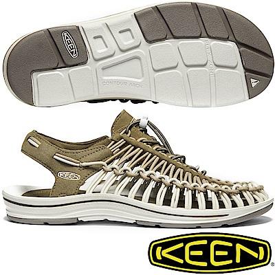 KEEN 1020785橄欖綠 Uneek男專業戶外護趾編織涼鞋