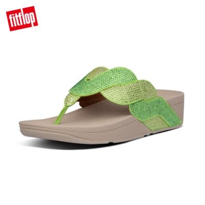 FitFlop PAISLEY ROPE TOE-THONGS 漸層水鑽夾腳涼鞋-女(檸檬綠)