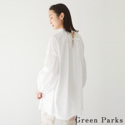 Green Parks 後背綁帶捲袖上衣