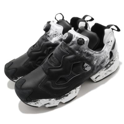 Reebok 休閒鞋 Instapump Fury OG 男女鞋 聯名 墨印 片假名 充氣科技 情侶款 白 黑 FY3044