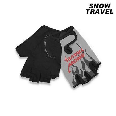 Snow Travel 雪之旅 半指防滑自行車手套AH-9【灰火焰】(XL)