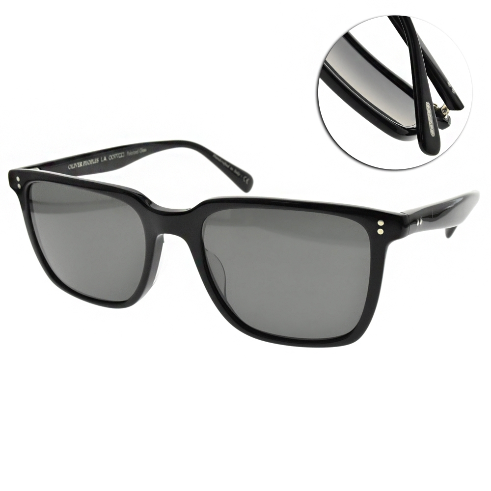 OLIVER PEOPLES 偏光太陽眼鏡 LACHMAN SUN方框款/黑-灰鏡片  #OV5419SU 1005P2