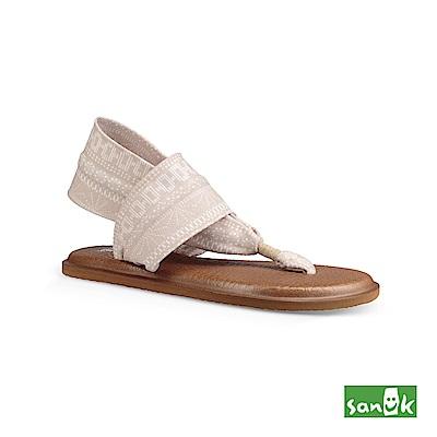 SANUK-YOGA SLING 2 格紋瑜伽墊涼鞋-女款(象牙白)1019795 NSSR