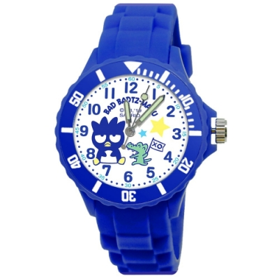 Sanrio三麗鷗二代中型運動彩帶錶34mm酷企鵝(藍)