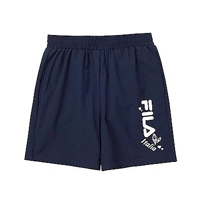 FILA KIDS 童平織4分褲-丈青 5SHT-4917-NV