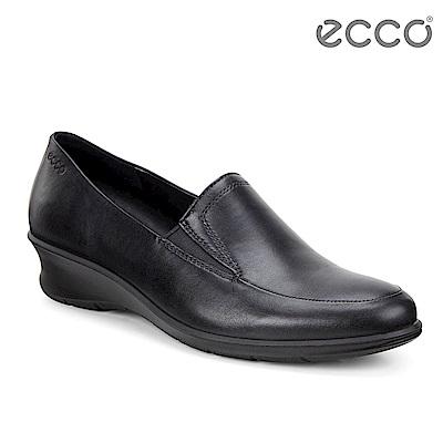 ECCO FELICIA 圓頭舒適正裝風格楔形跟鞋 女-黑