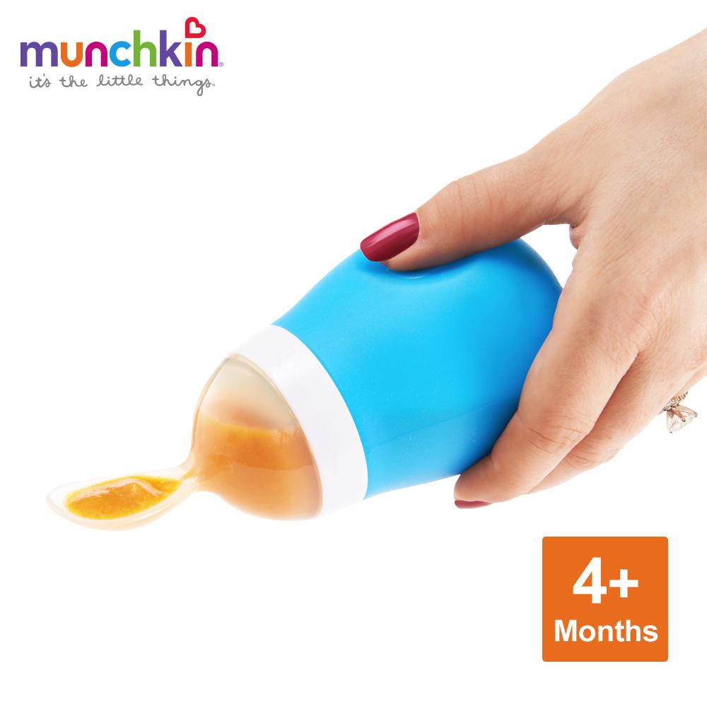 munchkin滿趣健-擠壓式餵食湯匙-多色