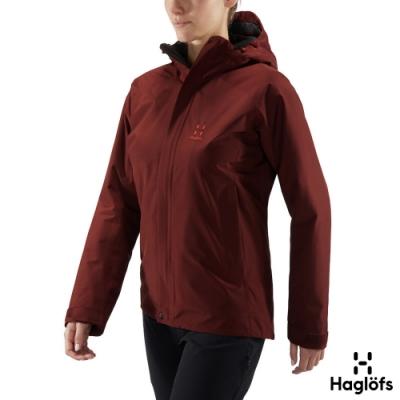 Haglofs 女 Stratus GT 防水 保暖 透氣 化纖外套 魔力紅